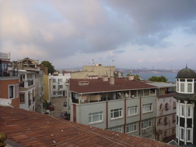 Blick von der Dachterrasse des Hostels