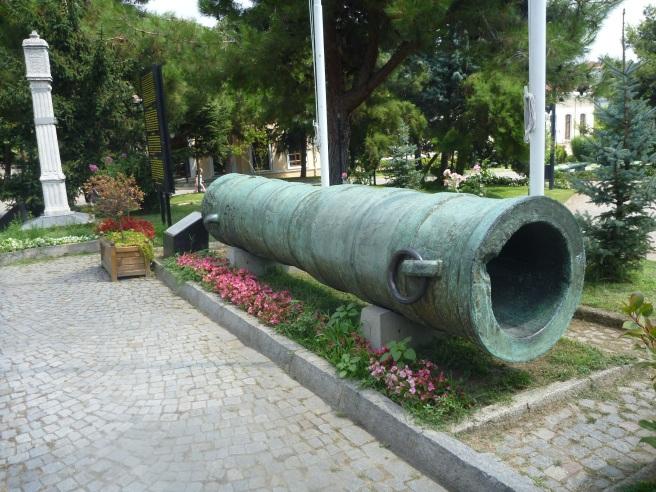 Diese Kanonen wurden von den Osmanen bei der Belagerung von Konstantinopel eingesetzt.